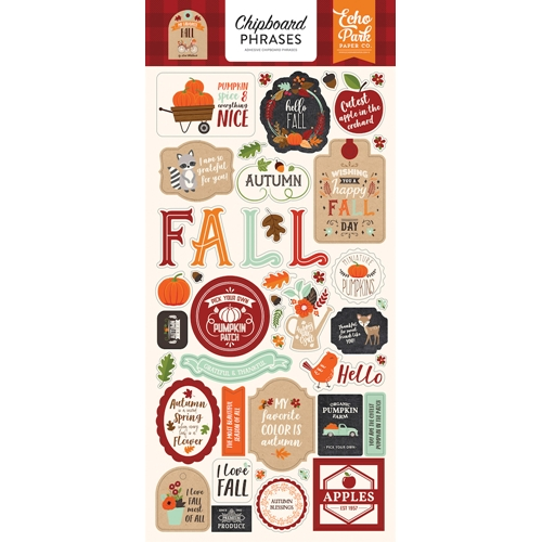 Echo Park MY FAVORITE FALL Chipboard Phrases mff187022 Preview Image