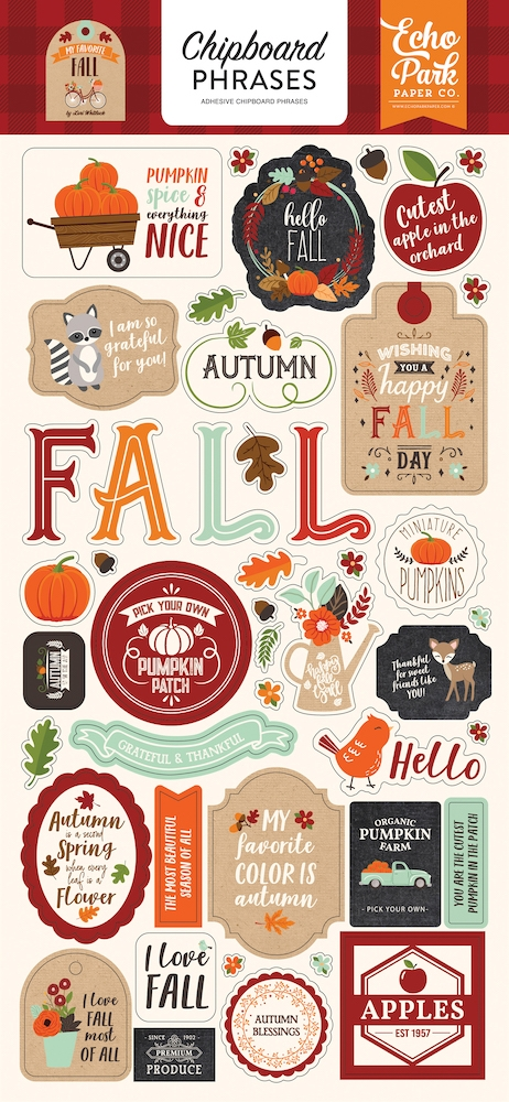 Echo Park MY FAVORITE FALL Chipboard Phrases mff187022 zoom image