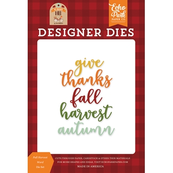 Echo Park FALL HARVEST WORD Die Set mff187043