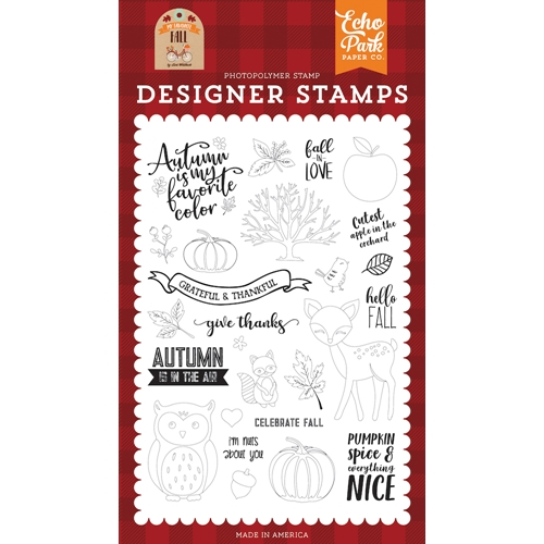 Echo Park CELEBRATE FALL Clear Stamps mff187044 Preview Image