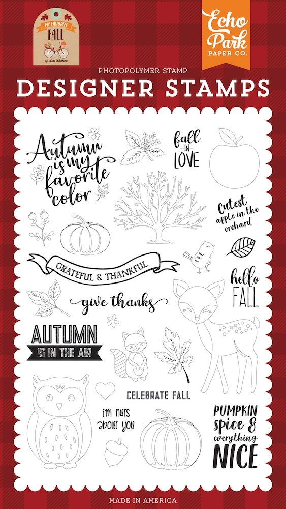 Echo Park CELEBRATE FALL Clear Stamps mff187044 zoom image