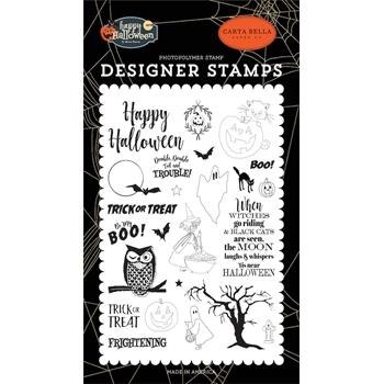 Carta Bella TOIL AND TROUBLE Clear Stamp Set cbhal104042