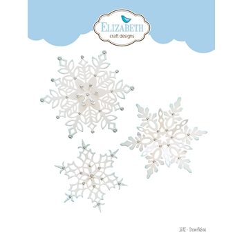 Elizabeth Craft Designs SNOWFLAKES Craft Dies 1692
