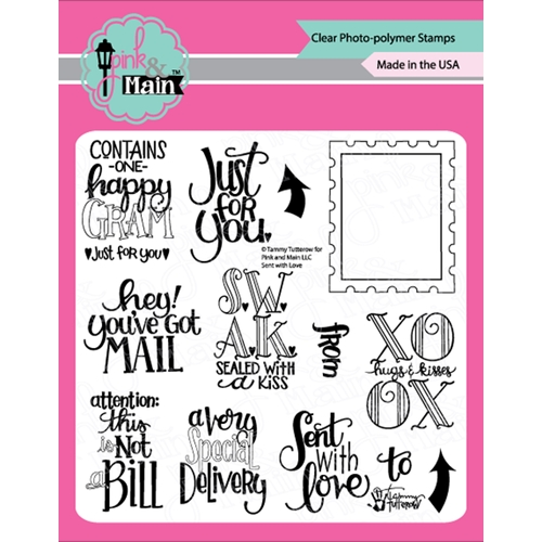Pink and Main SENT WITH LOVE Clear Stamps PM350 Preview Image