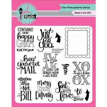 Pink and Main SENT WITH LOVE Clear Stamps PM350*