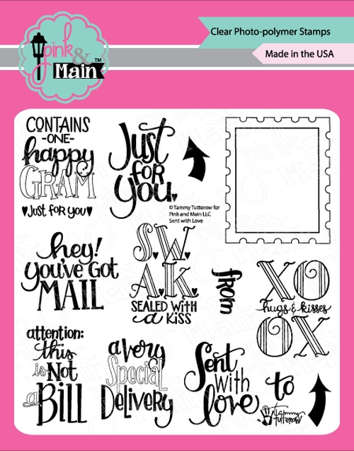 Pink and Main SENT WITH LOVE Clear Stamps PM350 zoom image