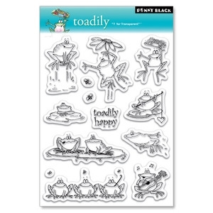 Penny Black Clear Stamps TOADILY 30-022 zoom image