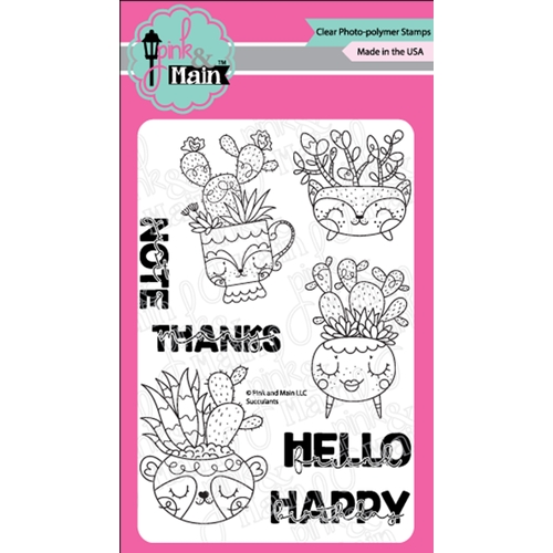 Pink and Main SUCCULENTS Clear Stamps PNM351 Preview Image