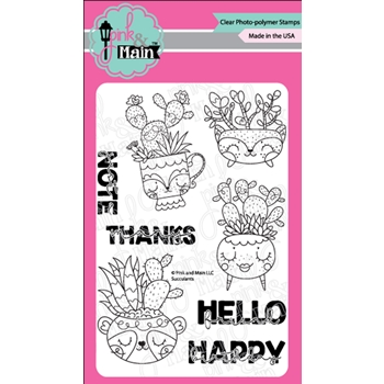 Pink and Main SUCCULENTS Clear Stamps PNM351