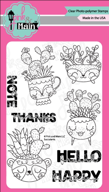 Pink and Main SUCCULENTS Clear Stamps PNM351 zoom image