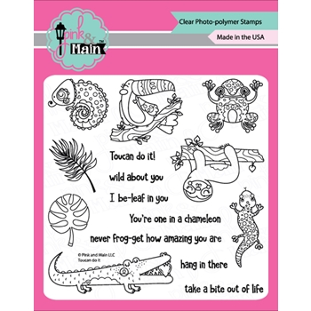 Pink and Main TOUCAN DO IT Clear Stamps PM0353