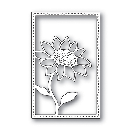 Simon Says Stamp SUNFLOWER FRAME Wafer Die s666 Believe In You Preview Image