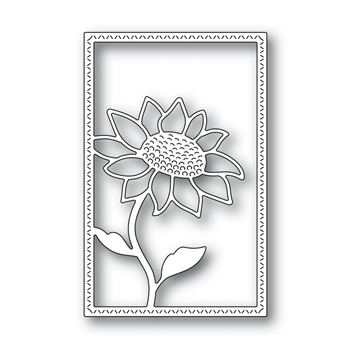 Simon Says Stamp SUNFLOWER FRAME Wafer Die s666 Believe In You