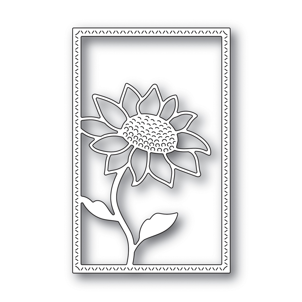 Simon Says Stamp SUNFLOWER FRAME Wafer Die s666 Believe In You zoom image