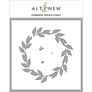 Altenew WONDERFUL WREATH Stencil ALT3456