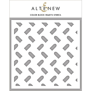 Altenew COLOR BLOCK HEARTS Stencil ALT3454
