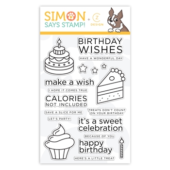 CZ Design Clear Stamps BIRTHDAY SWEETS cz35 Believe In You