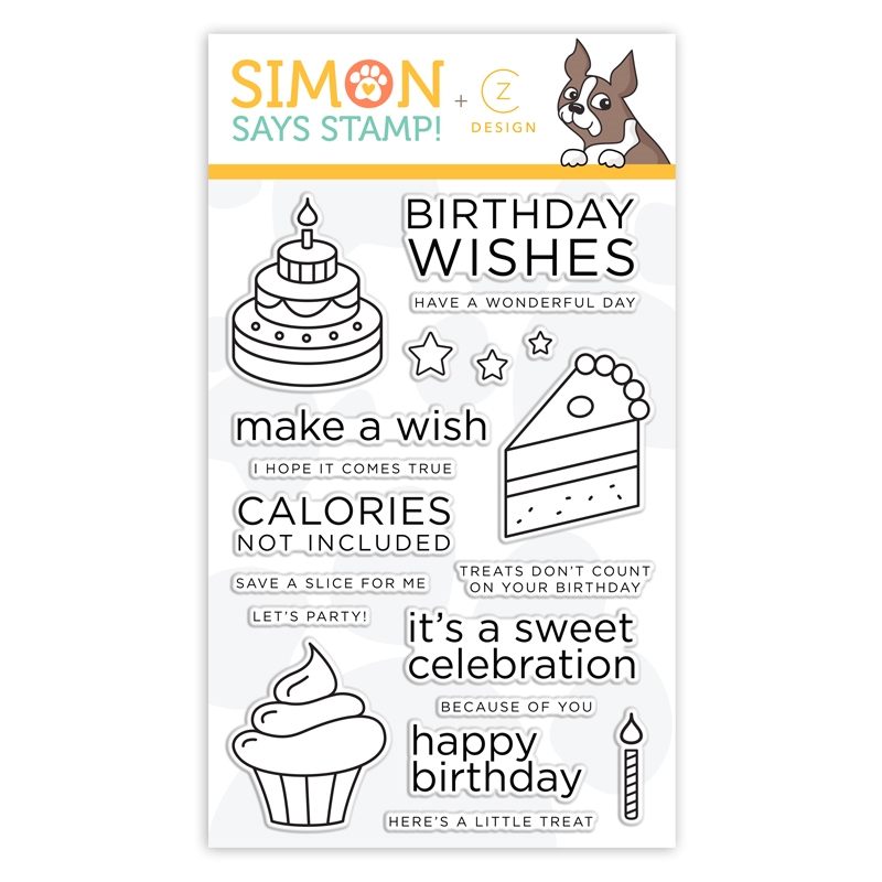 CZ Design Clear Stamps BIRTHDAY SWEETS cz35 Believe In You zoom image