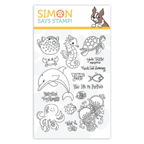 Simon Says Clear Stamps NEVER QUIT SWIMMING sss102005 Believe In You Preview Image