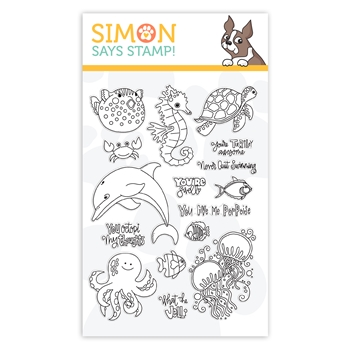 Simon Says Clear Stamps NEVER QUIT SWIMMING sss102005 Believe In You