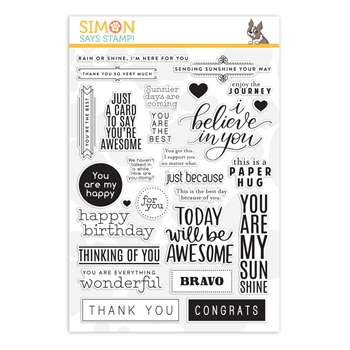 Simon Says Clear Stamps GREETINGS MIX 1 sss201997 Believe In You