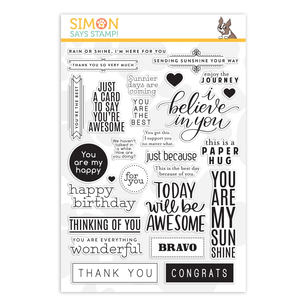 Simon Says Clear Stamps GREETINGS MIX 1 sss201997 Believe In You zoom image