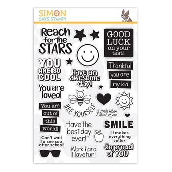 Simon Says Clear Stamps LUNCH BOX NOTES 2 sss202010 Believe In You *