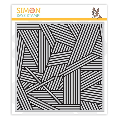 Simon's Exclusive Stripe Jumble Cling Stamp