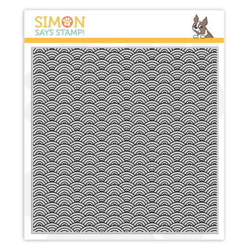 Simon Says Cling Stamp SCALLOP WAVES sss102003 Believe In You Preview Image