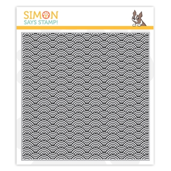 Simon Says Cling Stamp SCALLOP WAVES sss102003 Believe In You