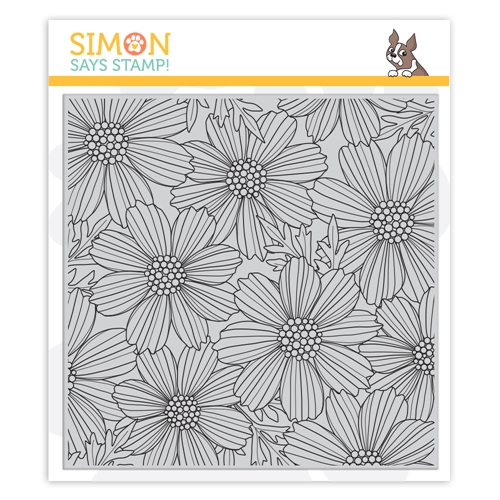 Simon Says Cling Stamp COSMOS BLOOM BACKGROUND sss102031 Believe In You Preview Image