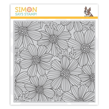 Simon Says Cling Stamp COSMOS BLOOM BACKGROUND sss102031 Believe In You