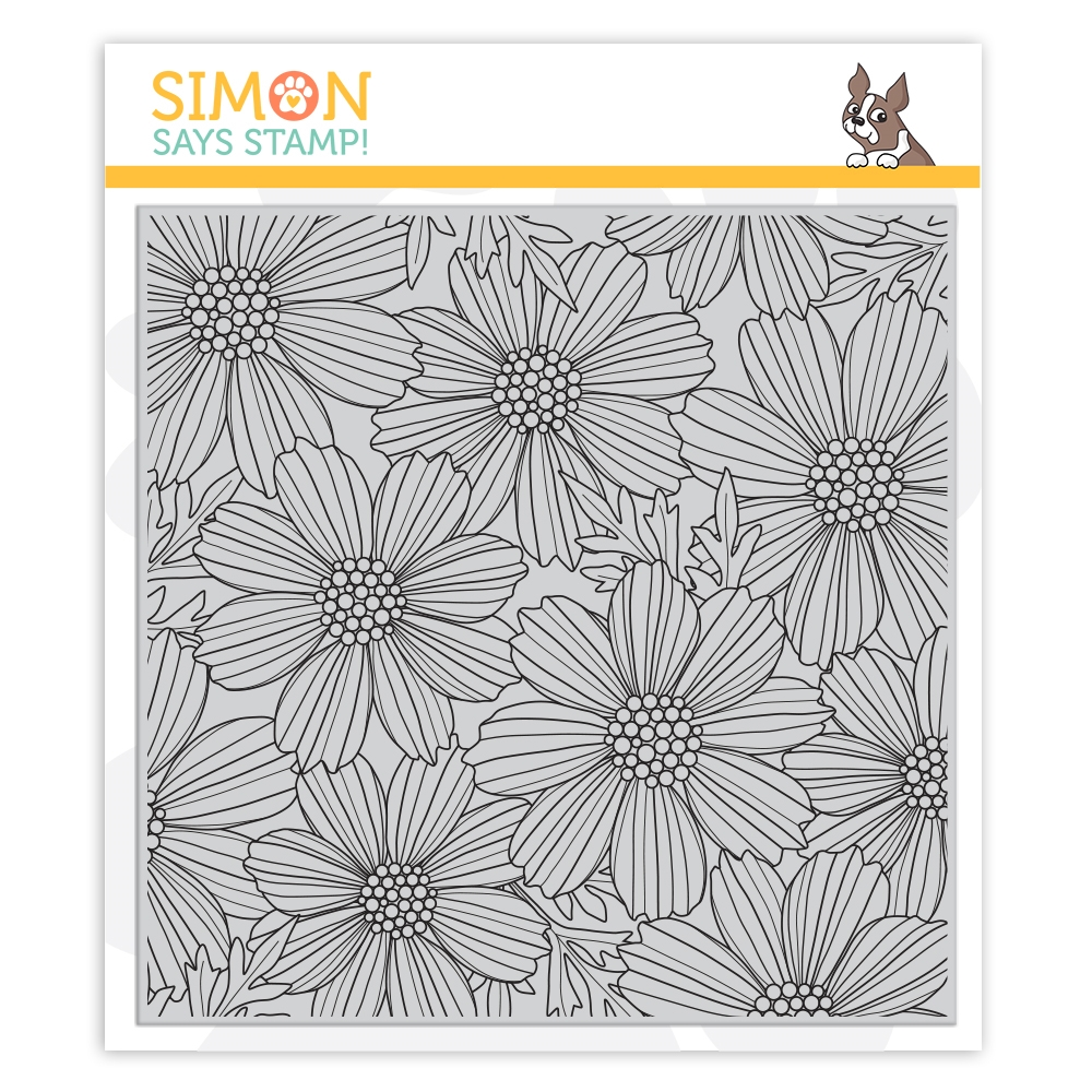 Simon Says Cling Stamp COSMOS BLOOM BACKGROUND sss102031 Believe In You zoom image