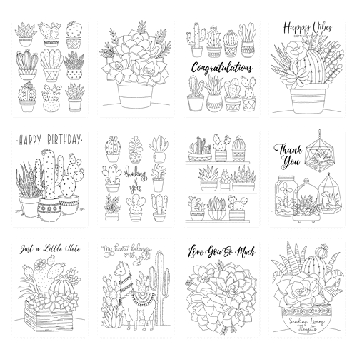 Simon Says Stamp Suzy's SUCCULENTS Watercolor Prints szslt0719 Believe In You Preview Image