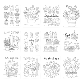 Simon Says Stamp Suzy's SUCCULENTS Watercolor Prints szslt0719 Believe In You