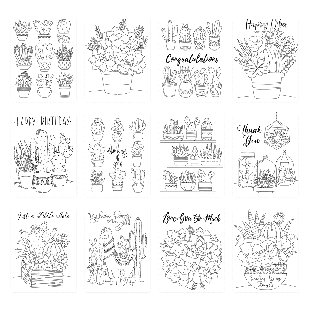 Simon Says Stamp Suzy's SUCCULENTS Watercolor Prints szslt0719 Believe In You zoom image