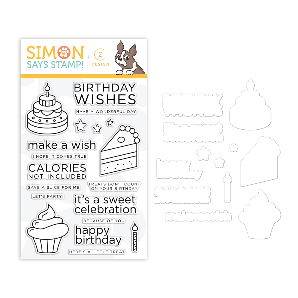 CZ Design BIRTHDAY SWEETS Stamps and Dies set353bs Believe In You zoom image