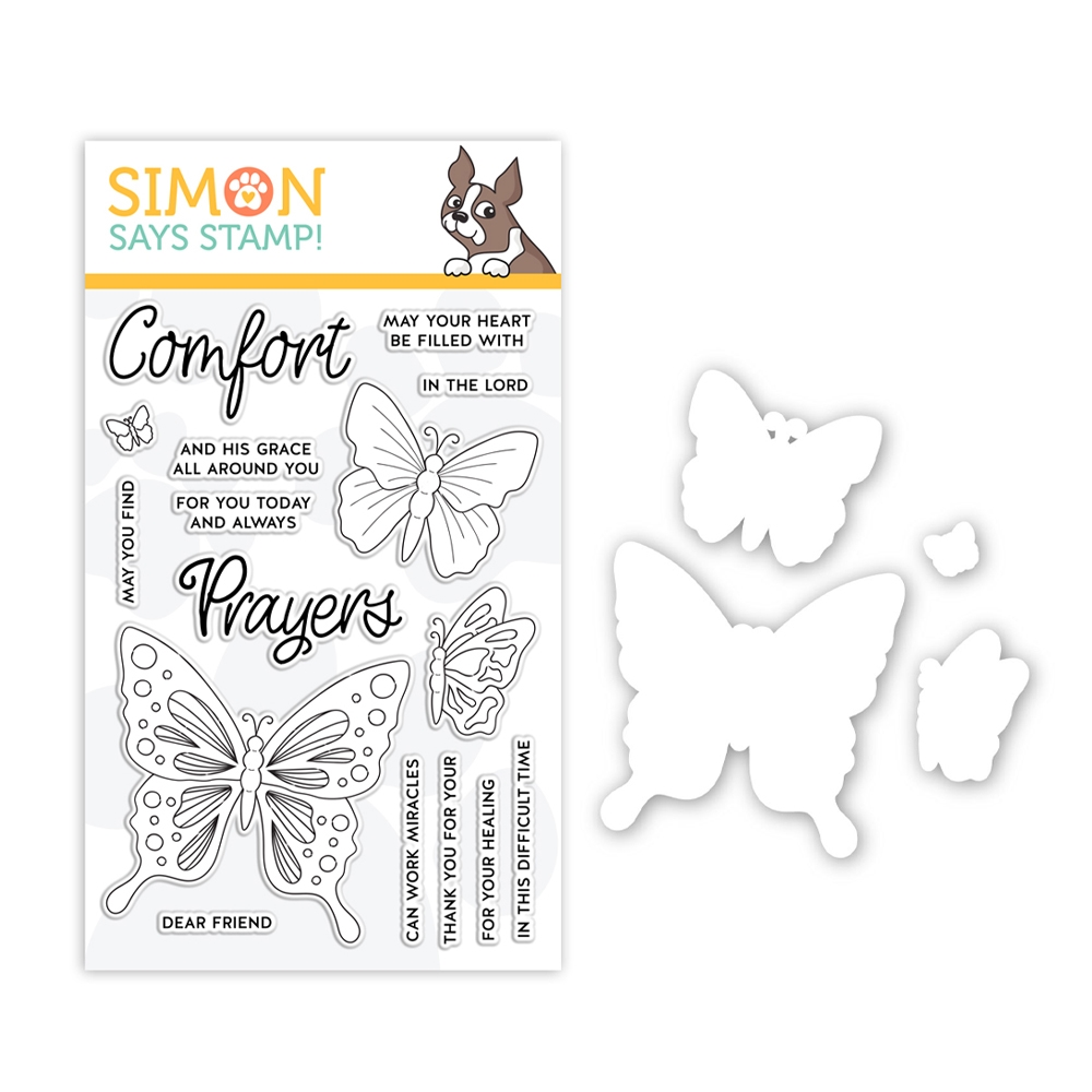 Simon Says Stamps And Dies COMFORT AND PRAYERS set350cp Believe In You zoom image