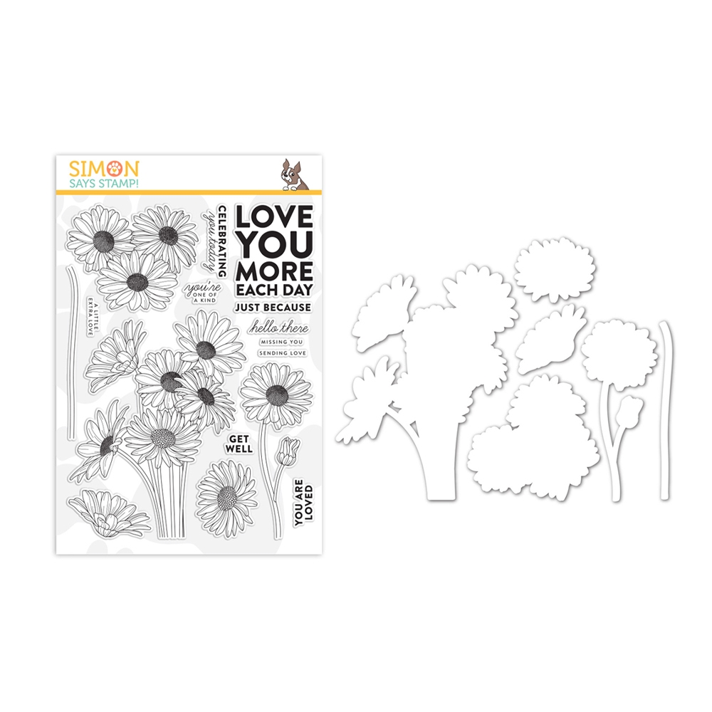 Simon Says Stamps And Dies DAISY BOUQUET set347db Believe In You zoom image
