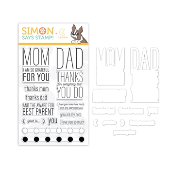 CZ Design PARENTAL PROPS Stamps and Dies set348pp Believe In You