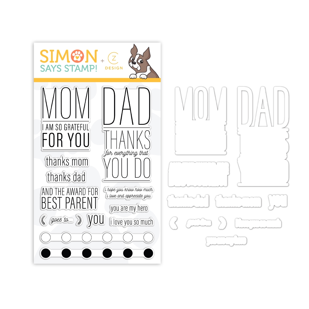CZ Design PARENTAL PROPS Stamps and Dies set348pp Believe In You zoom image