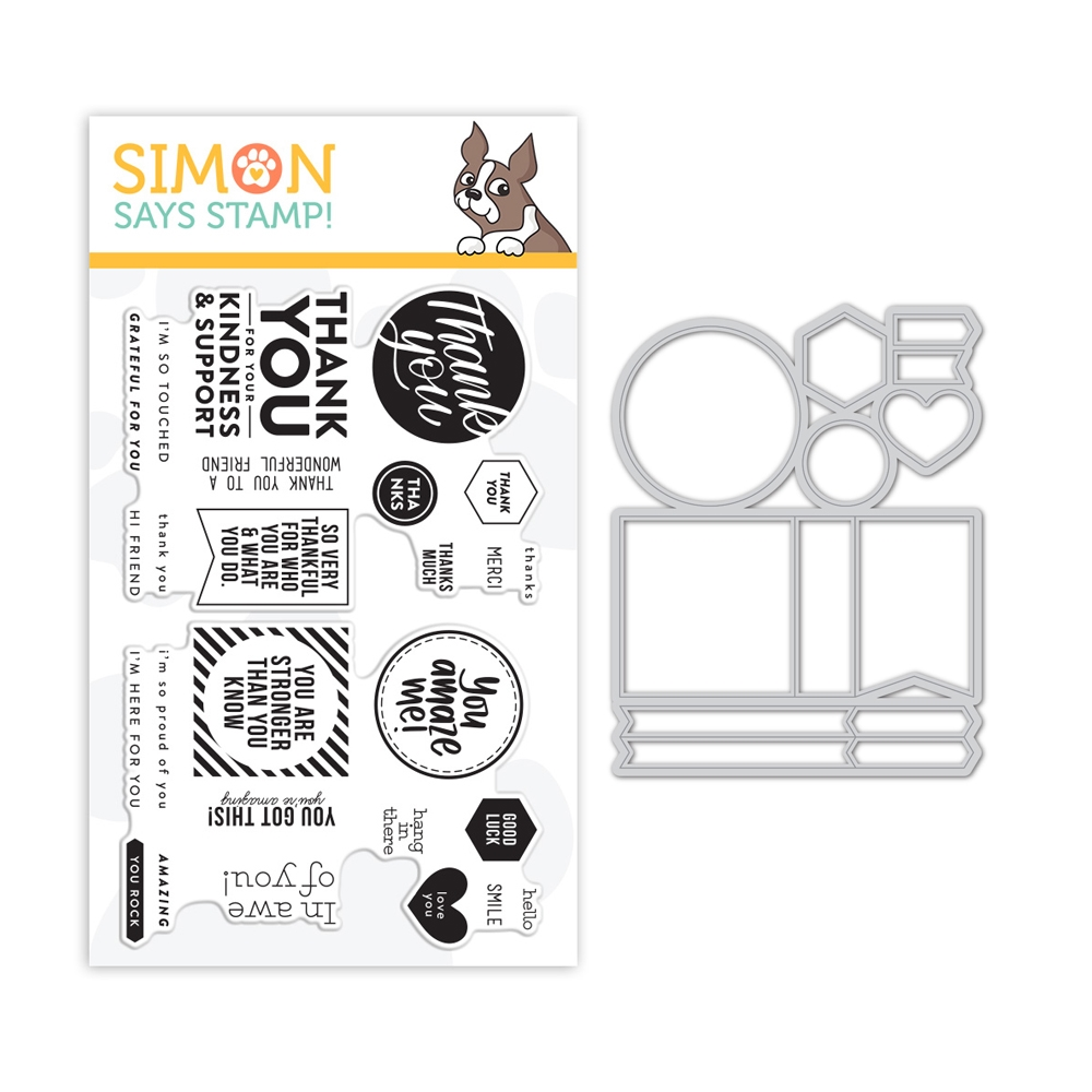 Simon Says Stamps And Dies THANKS AND ENCOURAGEMENT MIX set352wm Believe In You zoom image