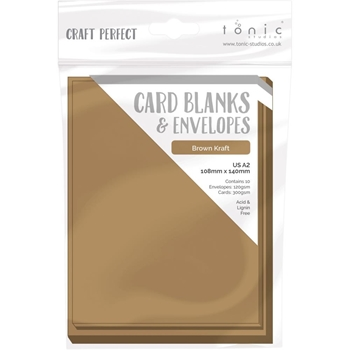 Tonic BROWN KRAFT Craft Perfect A2 Card Blanks 9255e