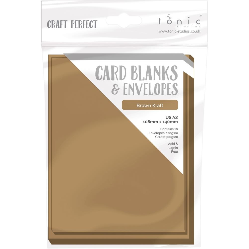 Tonic BROWN KRAFT Craft Perfect A2 Card Blanks 9255e zoom image