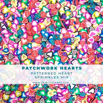 Trinity Stamps PATCHWORK HEARTS Embellishment Box 811622