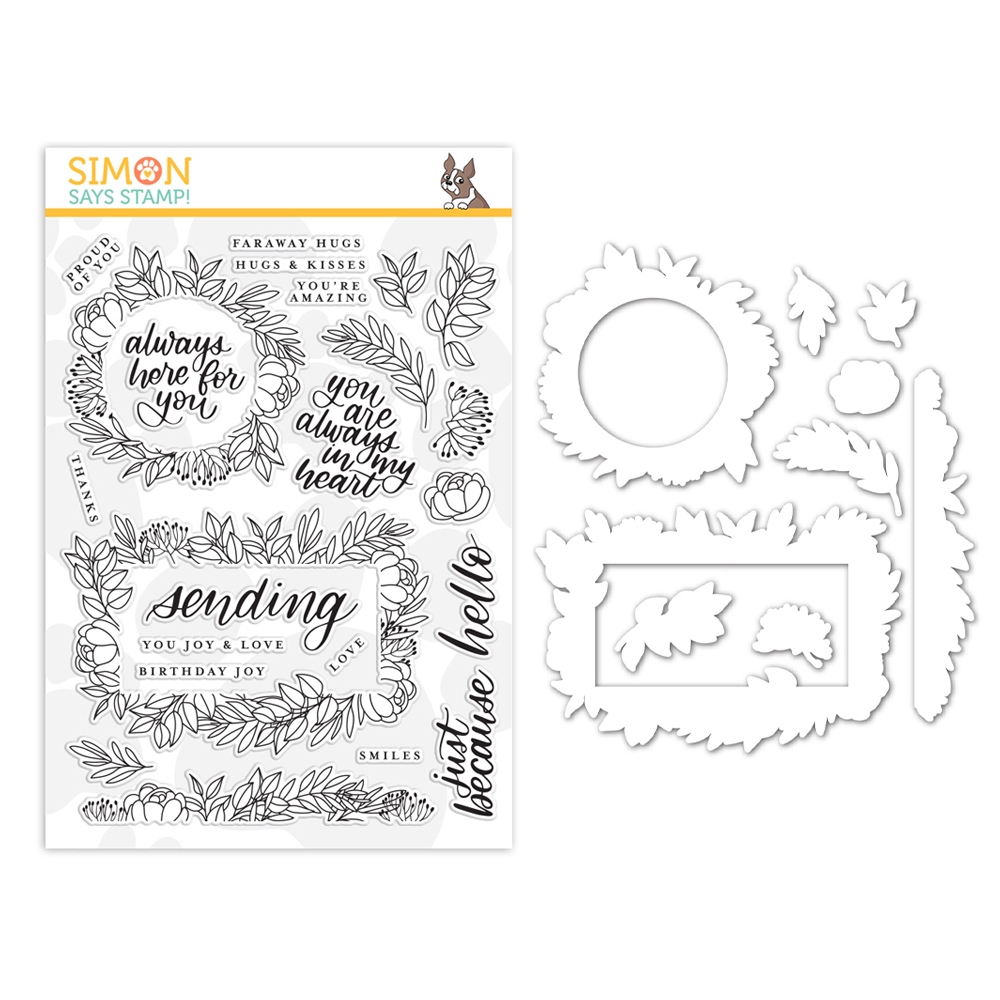 Simon Says Stamps And Dies LEAFY FRAMES set355lf Believe In You zoom image