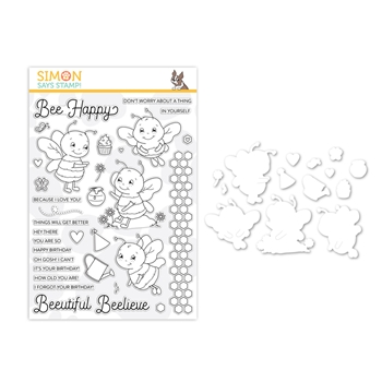 Simon Says Stamps And Dies BEE HAPPY set349hb Believe In You