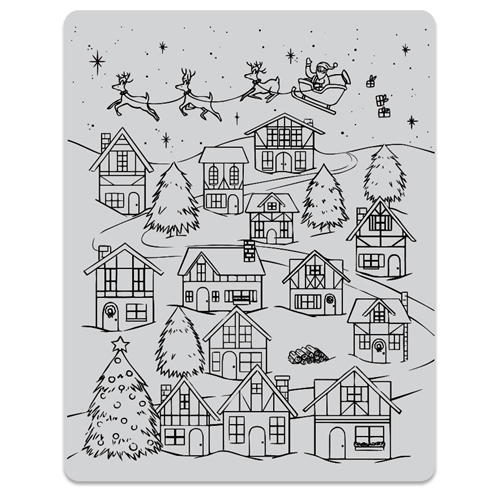 Hero Arts Cling Stamps WINTER VILLAGE PEEK A BOO CG784 Preview Image