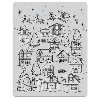 Hero Arts Cling Stamps WINTER VILLAGE PEEK A BOO CG784