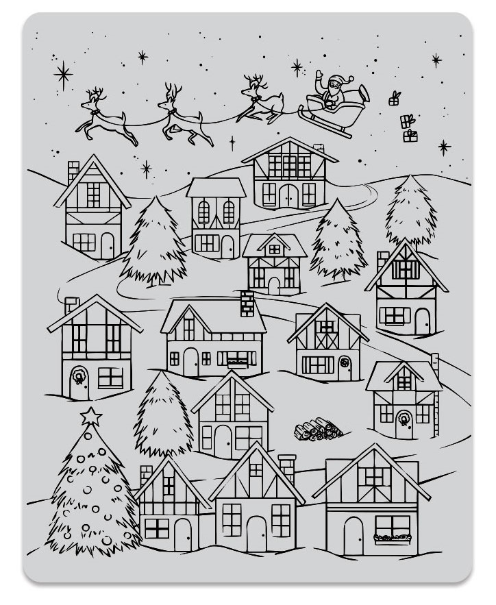 Hero Arts Cling Stamps WINTER VILLAGE PEEK A BOO CG784 zoom image